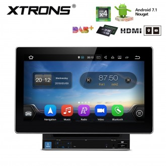 """10.1"""" HD Digital Android 7.1 Quad Core 16GB ROM + DDR3 2G RAM Multi Touch Screen Double Din Car DVD Player with HDMI Output"""