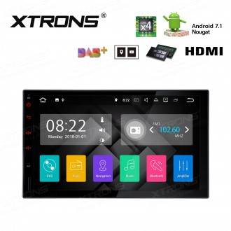 "7"" HD Digital Muiti Touch Screen Android 7.1 Quad Core 16GB ROM + 2G DDR3 RAM Car Android Stereo"