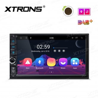 "7"" Android 8.1 Octa-Core car Stereo smart Multimedia player"