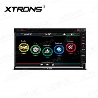 """6.95"""" HD CapacitiveTouch Screen Built-in DAB+ Tuner Double Din Car DVD Player"""