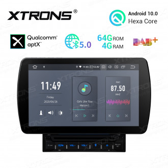 10.1 inch Android 10.0 4G RAM + 64GB ROM Hexa Core 64Bit Processor Qualcomm Bluetooth 5.0 Anti-Glare Screen Car DVD Player Navigation system with HDMI Output