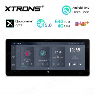 10.25 inch Android 10.0 Hexa Core 64GB ROM + 4G RAM Double Din car Multimedia Receiver GPS Navigation system with HDMI Output
