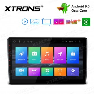 10.1 inch Android 9.0 Octa-Core 16GB ROM + 2GB RAM Rotatable Face Panel 2.5D Curved Screen Car DVD player