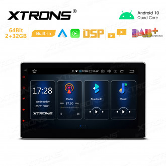 10.1 inch Android 10 Car GPS Multimedia Player with Built-in CarAutoPlay and Android Auto and DSP