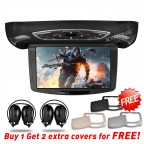 "CR103HDD 10.1"" HD Digital TFT Flipdown Roof Mounted DVD Player with 2 Headphones"