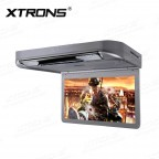 13.3 inch 1080P Video HD Digital TFT Monitor 16:9 Wide Screen Car Roof Player with HDMI Port & 2pc Headphones