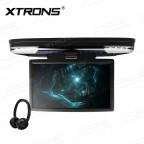 15.6 inch FHD Monitor Car Roof DVD Player with HDMI Port & 2pcs Headphones,16:9 TFT Monitor