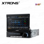 "7"" Motorized Digital touch screen built-in DAB Tuner single DIN car DVD player GPS Navigator"