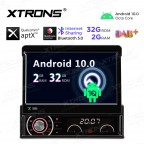 7 inch Android 10.0 Octa-Core 32G ROM + 2G RAM Qualcomm Bluetooth Retractable Touch Screen Car Multimedia DVD Player