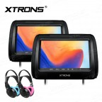 """2*9"""" DVD Player Well Designed Car Headrest support HDMI Input with 2 headphones"""