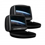 "2x9""  HD Digital  Panel Leather Cover Car Headrest DVD Players with  Zipper Design"