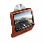 """9"""" HD Digital TFT Screen Leather Styled Car Headrest DVD Player with HDMI Port"""