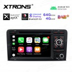 7 inch Android 10.0 Octa-Core 64G ROM + 4G RAM Plug & Play Design Qualcomm Bluetooth Car Stereo Multimedia GPS System for Audi A3 / S3 / RS3
