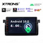 9 inch Android 10.0 Octa-Core 64G ROM + 4G RAM Plug & Play Design Qualcomm Bluetooth Car Stereo Multimedia GPS System for BMW / Rover / MG