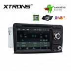 "7"" Android 9.0 car stereo Multimedia Navigation system with DVD player plug-and-play design Custom Fit for A3 