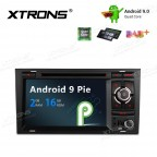 "7"" Android 9.0 car stereo Multimedia Navigation system with DVD player plug-and-play design Custom Fit for A4 