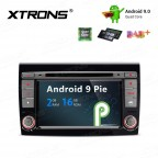 7 inch Android 9 Pie Car Stereo Multimedia Navigation System with DVD Player Custom Fit for Fiat