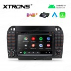 7 inch Android 10.0 Infotainment System Double DIN Multimedia Car DVD Player Custom Fit for Mercedes-Benz
