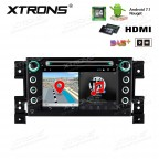 "7""Android 7.1 Quad Core 16GB ROM + 2G RAM HD Digital Touch screen HDMI Car DVD Player Costom Fit for Suzuki"