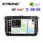 """Android 9.0 Octa-Core 32GB ROM + 4G RAM Multimedia DVD Player with 8"""" Display support car auto play Custom Fit for Volkswagen/seat/skoda"""