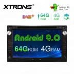 7 inch Android 9.0 Octa-Core 64GB ROM + 4G RAM Multimedia DVD Player support CarAutoPlay Custom fit for Volkswagen / SEAT / SKODA