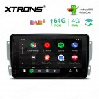 8 inch Android 9.0 Octa-Core 64G ROM + 4G RAM Car Stereo Multimedia GPS System Support CarAutoPlay Custom fit for Mercedes-Benz