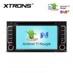 "6.2"" Android 7.1 Nougat Quad core 16GB ROM HD Digital Multi Touch Screen Car DVD Player with Full RCA Output Custom Fit for Subaru"