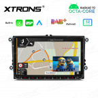 9 inch Android Octa-Core Multimedia Player Navigation System with Built-in Carplay  and Android Auto and DSP for VW   SKODA   SEAT