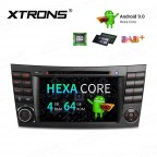 7 inch Android 9.0 Hexa-Core 64Bit Processor 64GB ROM + 4GB RAM Car DVD Receiver Navigation System with HDMI Output Custom fit for Mercedes-Benz