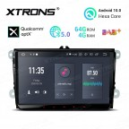 9 inch Android 10.0 Hexa Core 64GB ROM + 4GB RAM Car Stereo Navigation System with HDMI Output Custom Fit for VW / Skoda / Seat