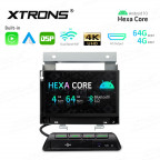 7 inch Android Hexa-Core 64bit Processor 4G RAM + 64GB ROM Navigation System with Built-in Carplay and Android Auto and DSP with HD Output Custom Fit for Land Rover