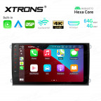 9 inch In-Dash Android Hexa-Core 64bit Processor 4G RAM + 64GB ROM Car Navigation System with HD Output with Built-in Carplay and Android Auto and DSP Custom Fit for Porsche