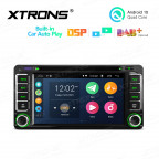 6.2 inch Multimedia Car DVD Player Navigation System With Built-in CarAutoPlay and DSP Fit for Toyota