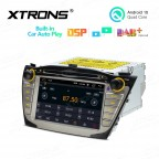 7 inch Multimedia Car Stereo Navigation System With Built-in CarAutoPlay and DSP Fit for HYUNDAI / Tucson