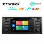 7 inch Android 10.0 Multimedia Car DVD Player Navigation System With Built-in Wired CarAutoPlay and DSP Fit for BMW E39