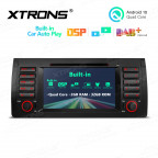 7 inch Multimedia Car DVD Player Navigation System With Built-in Wired CarAutoPlay and DSP Fit for BMW X5 E53