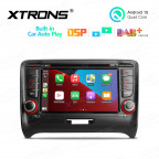 7 inch Android 10 Quad Core Processor Multimedia Car DVD Player Navigation System With Built-in CarAutoPlay and DSP Fit for Audi TT