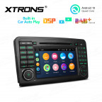 7 inch Android 10.0 2GB RAM 32GB ROM Multimedia Car DVD Player Navigation System With Built-in Wired CarAutoPlay and DSP Fit for Mercedes-Benz