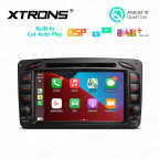 7 inch Android 10 Multimedia Car DVD Player Navigation System With Built-in Wired CarAutoPlay and DSP Fit for Mercedes-Benz