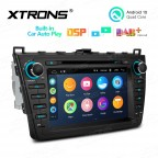 8 inch Android 10.0 Multimedia Car Stereo Navigation System with Built-in Wired CarAutoPlay and DSP Fit for Mazda