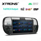 7 inch Android 10.0 Car Navigation Multimedia Player with Built-in DSP Custom Fit for Fiat
