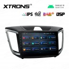 10.1 inch IPS Screen Navigation Multimedia Player with Built-in DSP Custom Fit for HYUNDAI