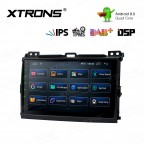 9 inch IPS Screen Android 9.0 with Built-in DSP Navigation Multimedia Player Fit for TOYOTA