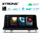 10.25 inch Car Android Multimedia Navigation System with Built-in 4G for BMW X5 E70/X6 E71 CIC