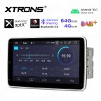 10.1 inch Android 10.0 Octa-Core 64G ROM + 4G RAM Qualcomm Bluetooth Double Din Rotatable Touch Screen Car Stereo Multimedia Player