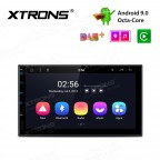 7 inch Android 9.0 Octa-core Car Stereo Smart Multimedia Player IPS Screen with 2.5 D Curved Glasses