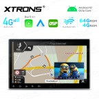 Integrated 4G Solution: 10.1 inch Octa-Core DDR4 4GB RAM + 64GB ROM Android Multimedia Player Navigation System With Built-in CarAutoPlay and Android Auto and DSP