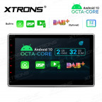 10.1 inch Double Din Android Octa-Core Multimedia Player Navigation System with Built-in Carplay and DSP and Screen Mirroring