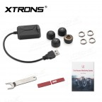 "Car USB TPMS Tire Pressure Monitoring Alarm System for XTRONS Android 9.0 Units of ""PST""  & ""PS"" Series"