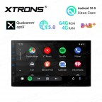 7 inch Android 10.0 Hexa Core 64GB ROM + 4G RAM Double Din car stereo Navigation system with HDMI Output